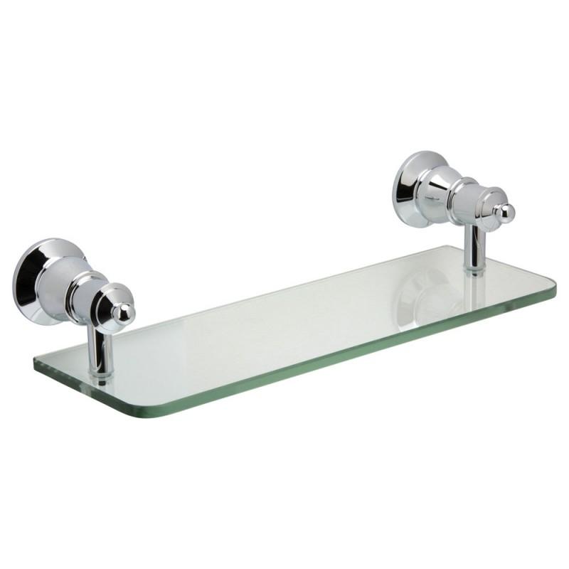 Fienza Lillian Glass Shelf, Chrome