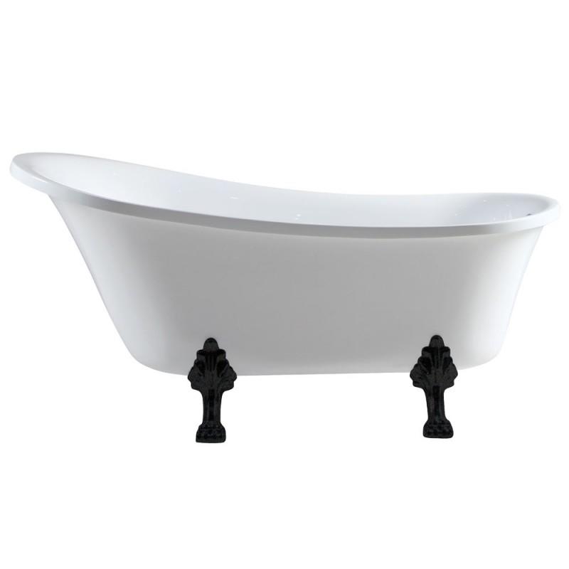 Fienza Claw Foot Bath - Matte Black Feet 1500mm Bath Volume