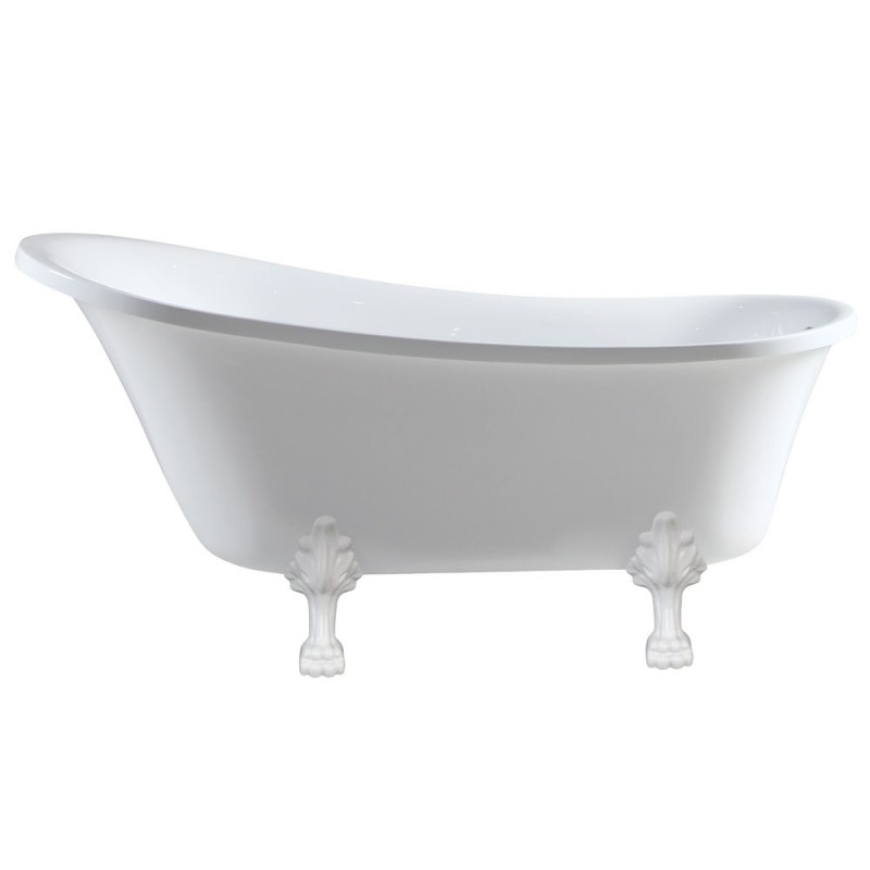 Fienza Claw Foot Bath - Semi-Gloss White Feet 1700mm Bath Volume