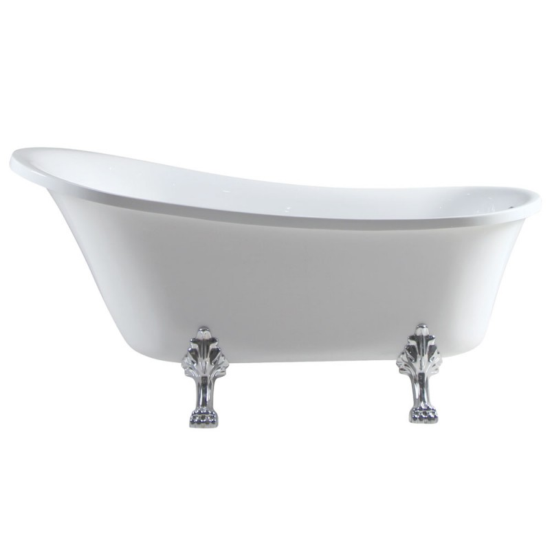 Fienza Claw Foot Bath - Chrome Feet 1700mm Bath Volume