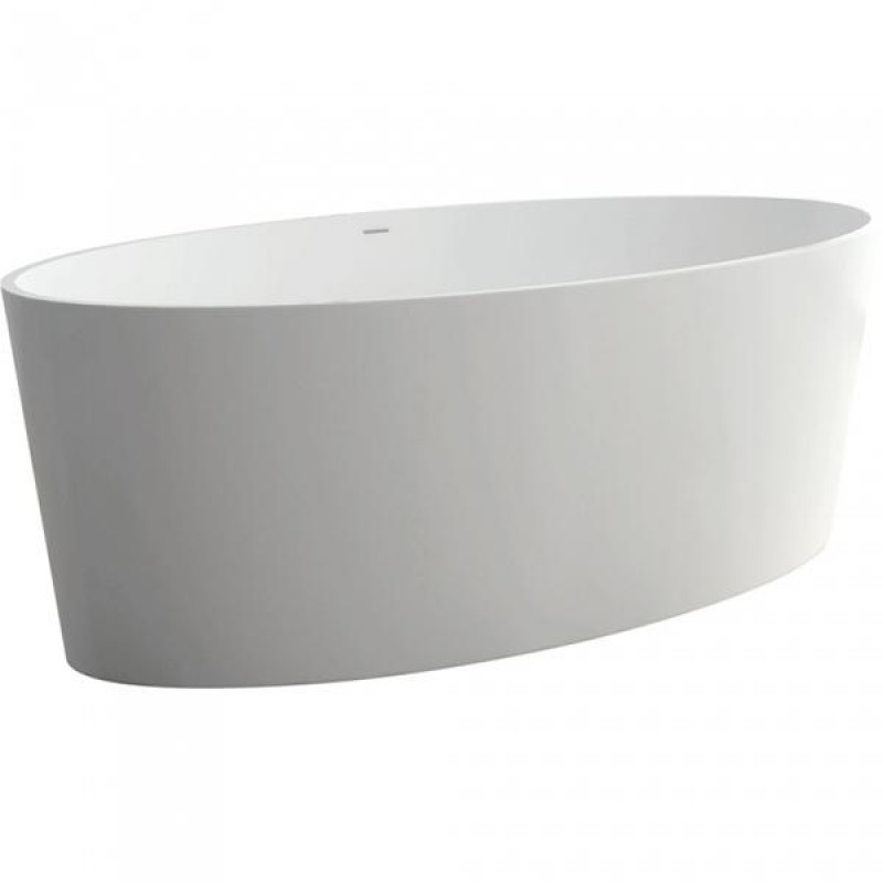 Fienza Lexy Matte White Stone Freestanding Bath 1600mm