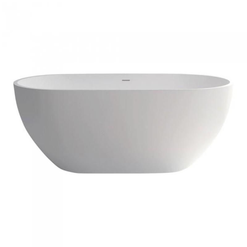 Fienza Nero 1400mm Matte White Stone Bath