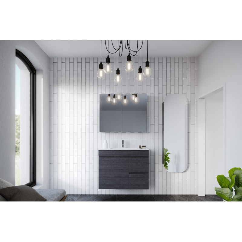 Timberline Bargo Wall Hung Vanity 600mm - 2100mm with Classic Acrylic Top