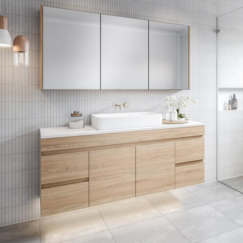 Timberline Bargo Wall Hung Vanity 600mm - 1500mm with Alpha Ceramic Top