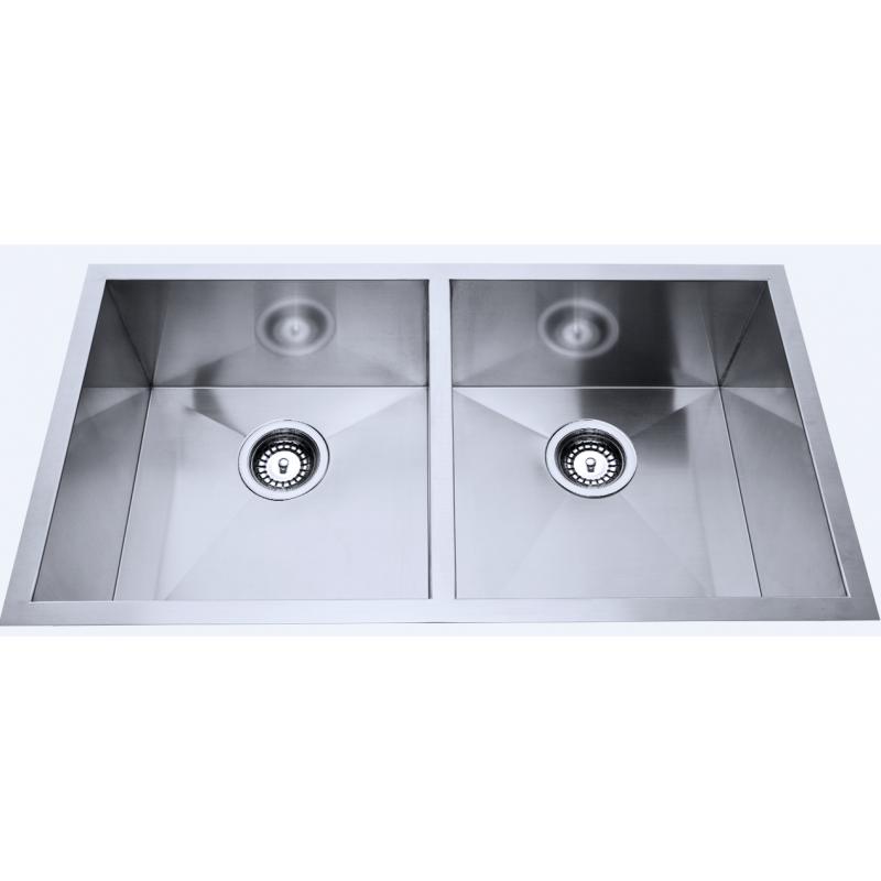 760 x 440 x 230mm  Double Bowl Kitchen Sink with Round Corner