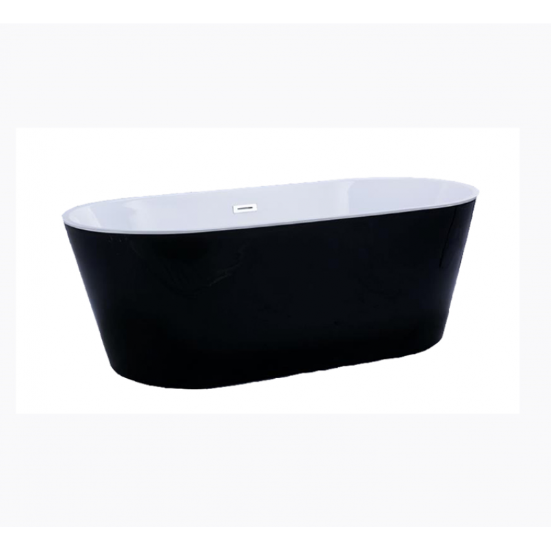 1500mm, 1700mm VOGHERA Black Free Standing bath tub from