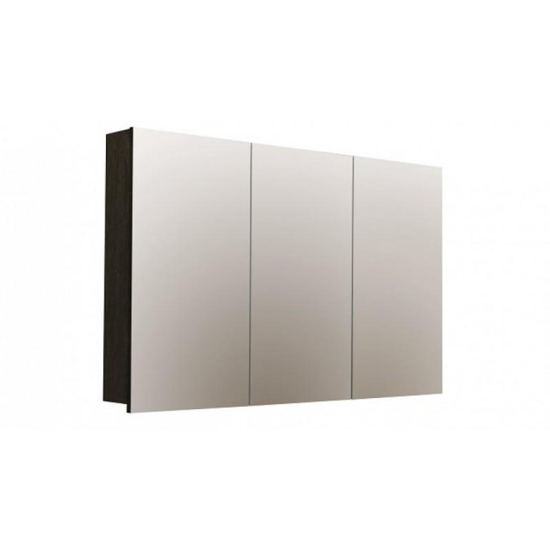 Forme Logan 1200 Mirror Shaver Cabinet - Dark Chocolate