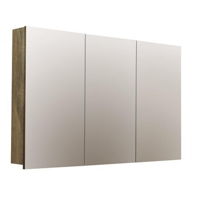 Forme Logan 1200 Mirror Shaver Cabinet - Walnut