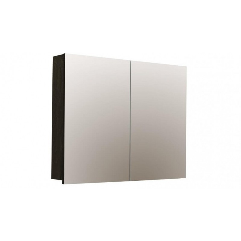 Forme Logan 900 Mirror Shaver Cabinet - Dark Chocolate
