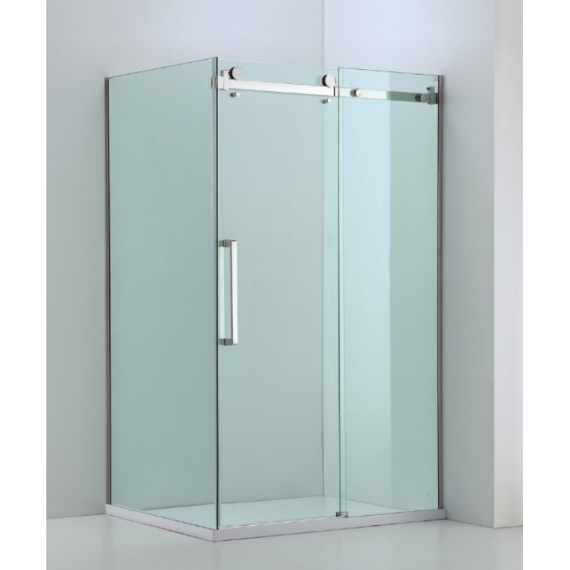 1000 - 2500mm x 800-1100mm (fixed panel) Sliding Shower Screen from