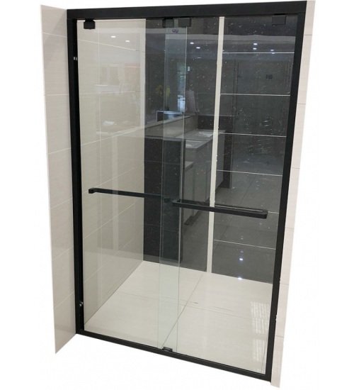Matt Black 1100 1600mm Sliding Door From