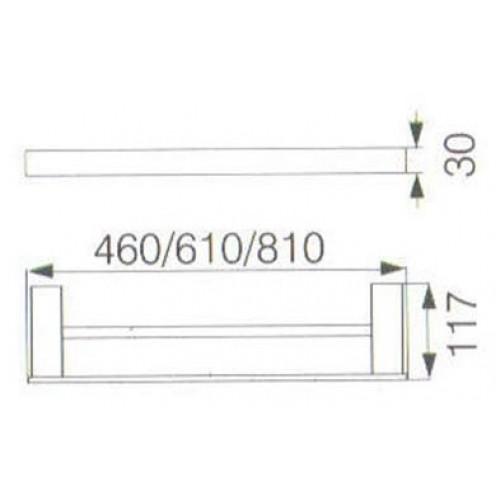 64 Series Double Towel Rail 6408D 610 810