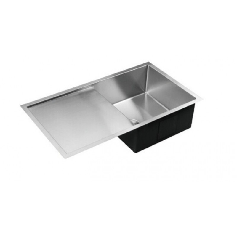 810 x 450 x 235mml Kitchen Sink with Round Corner and Drainer Board