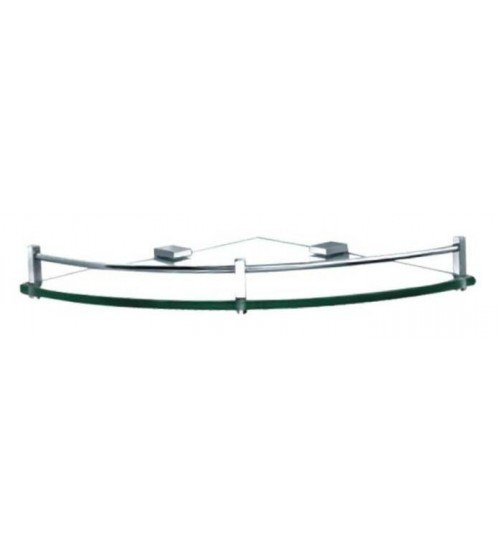 Clear Corner Glass Shelf With Bar CS-01