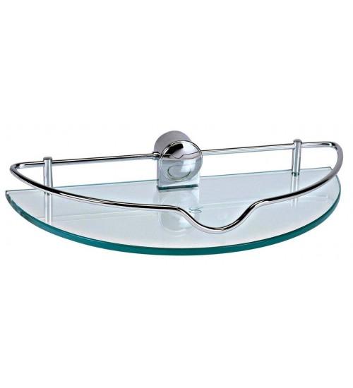 Clear Glass Shelf With Bar CS-06