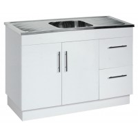 1180 X 470 X 870mm Laundry Tub With Polyurethane Cabinet