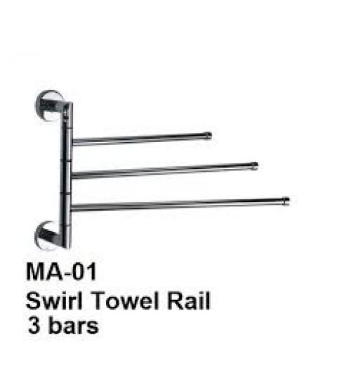 Swirl Towel Rail 3 Bars MA-01