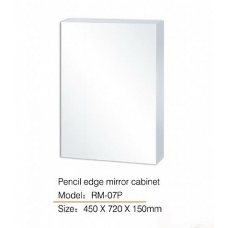 Pencil edge Mirror Cabinet (Glass Shelf) RM-107P