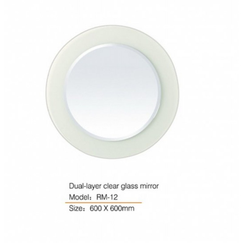 Dual-layer Clear Glass Mirror RM12 600*600